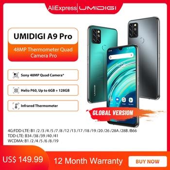 "UMIDIGI A9 Pro 6GB 128GB SmartPhone Global Version Unlocked 48MP Quad Camera 24MP Selfie Helio P60 6.3"" FHD+ Smart Phone celular 1"