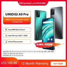 UMIDIGI-teléfono inteligente A9 Pro, versión Global, 6GB y 128GB, desbloqueado, cámara cuádruple de 48MP, cámara Selfie de 24MP, Helio P60, 6,3 pulgadas, FHD