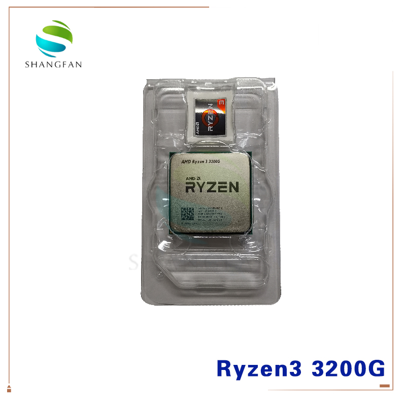 New AMD Ryzen 3 3200G R3 3200G 3.6 GHz Quad-Core Quad-Thread 65W CPU Processor L3=4M YD3400C5M4MFH Socket AM4 Without Fan