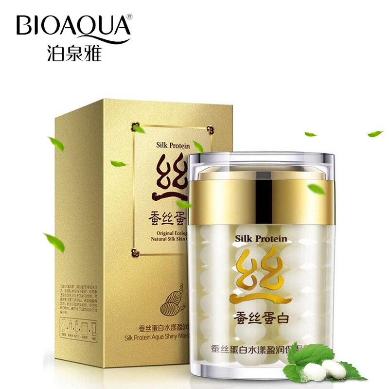 BIOAQUA Brand Face Cream Silk Protein Moisturizing Cream Anti Wrinkle Whitening Face Care 60ml Facial Cream