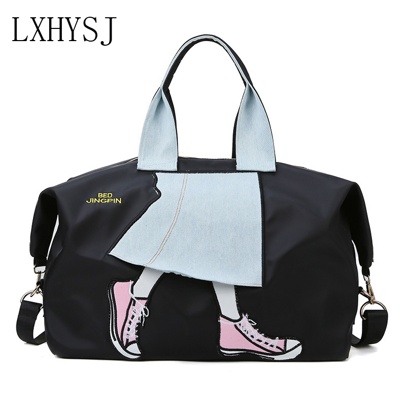 New Travel Bag Women's Duffle Bags Large Capacity Handbag Multifunction Sports Bag Oxford Cloth Weekend Package Travel Duffle