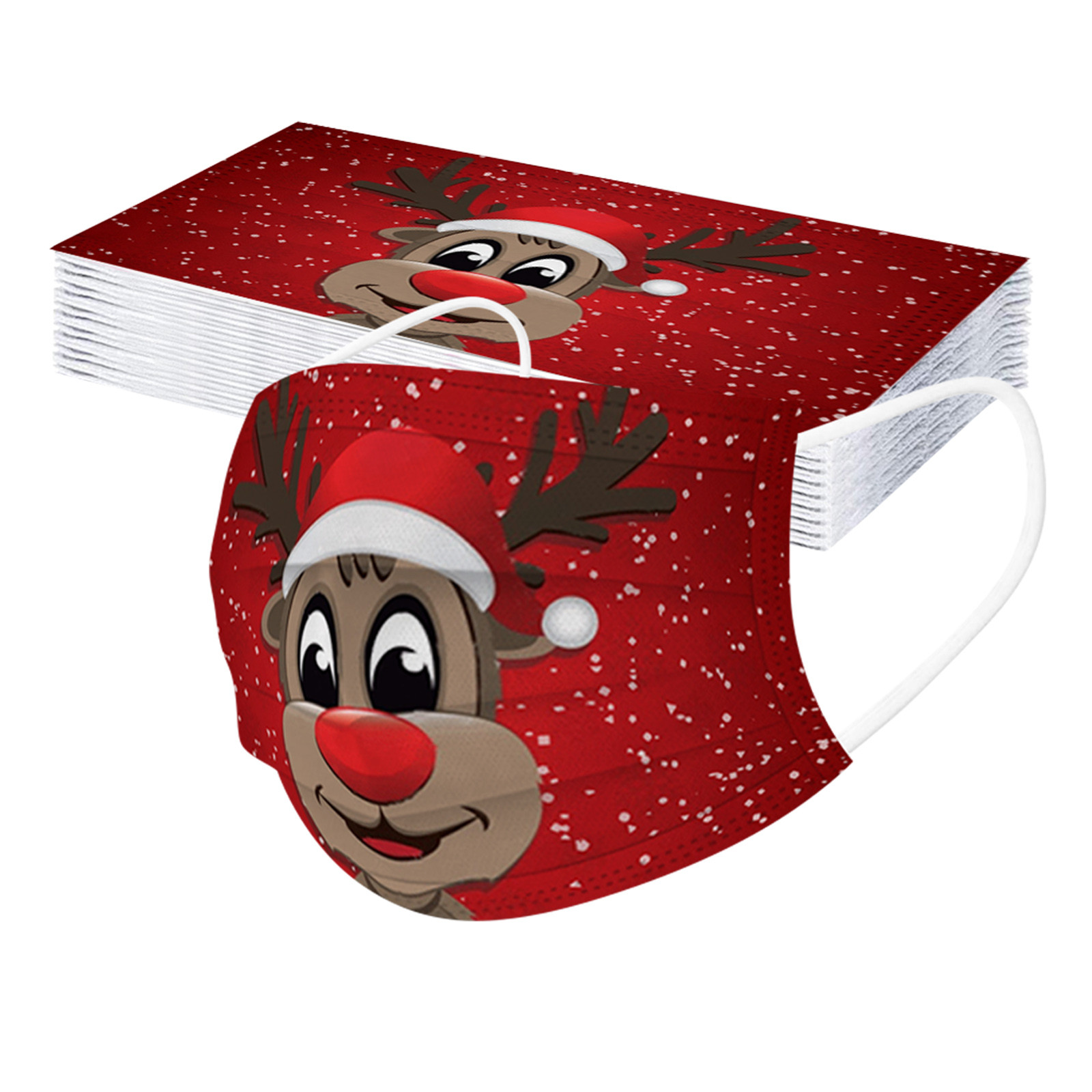 20 штук принт с рождественским лосем маски для защиты лица маска одноразовая сварочная маска для взрослых Mascarilla рот муфельной маска для лица