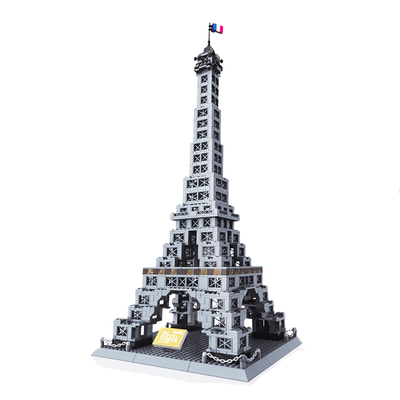 Wange 8015 France Eiffel Tower Architecture Building Blocks Creative Model for Children Gifts Creator 10181