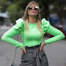 Sexy O Neck Women Blouse Shirts Puff Sleeve Blouse Summer Autumn Lady S