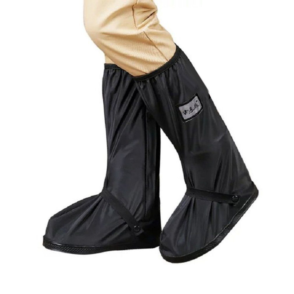 Waterproof Shoe Covers Waterproof Reusable Motorcycle Cycling Bike Boot Rain Shoes Covers With Relectors