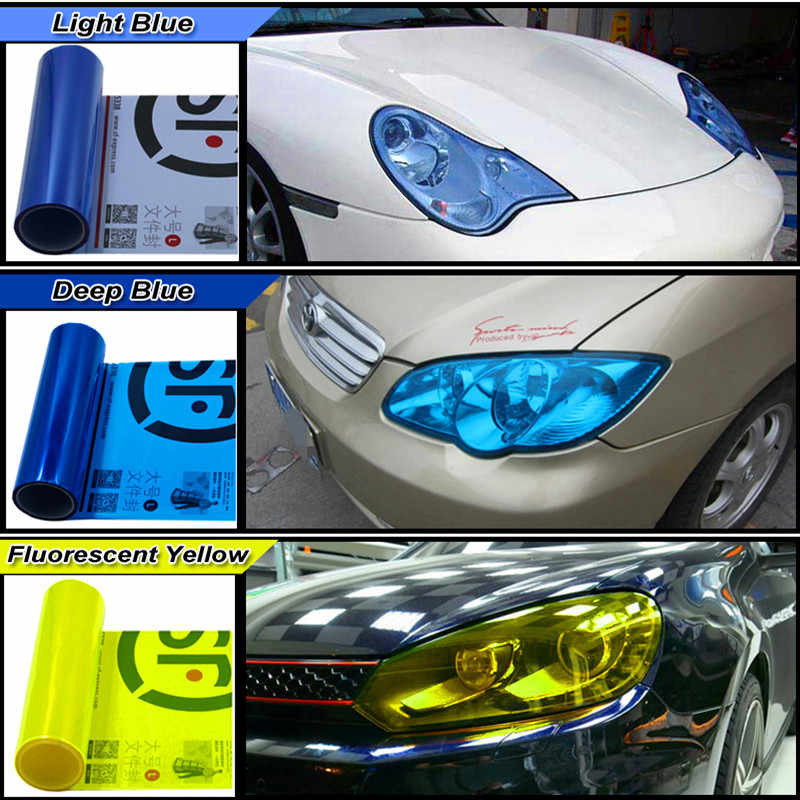 Виниловая пленка 30 см х 200 см для автомобилей, подвесной светильник, задний светильник, Тонировочная наклейка, Тонировка окон для автомобиля, противотуманный светильник, задний фонарь, Виниловая наклейка