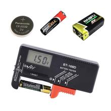 BT168D Digital Battery Capacity Tester Battery Capacity Indicador Batteries Voltage Monitor Checker for 9V 1.5V AAA Button Cell
