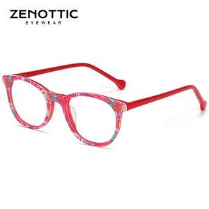 Image 3 - ZENOTTIC Acetate Anti Blue Light กรอบแว่นตาสำหรับเด็กเด็กเด็กสาวสำหรับเล่นเกมคอมพิวเตอร์สายตาสั้นแว่นตา