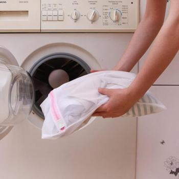 3 rozmiar worek siatkowy do prania poliester pranie kosmetyczki gruba siatka kosz na pranie worki na pranie dla pralki stanik z siatką torba tanie i dobre opinie CN (pochodzenie) 30*40cm appox 40*50cm appx 50*60cm appox