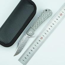 LEMIFSHE Silver Fox Folding Knife VG10 Damascus Blade Titanium Alloy Handle Outdoor Camping Hunting Pocket Fruit Knife EDC Tool