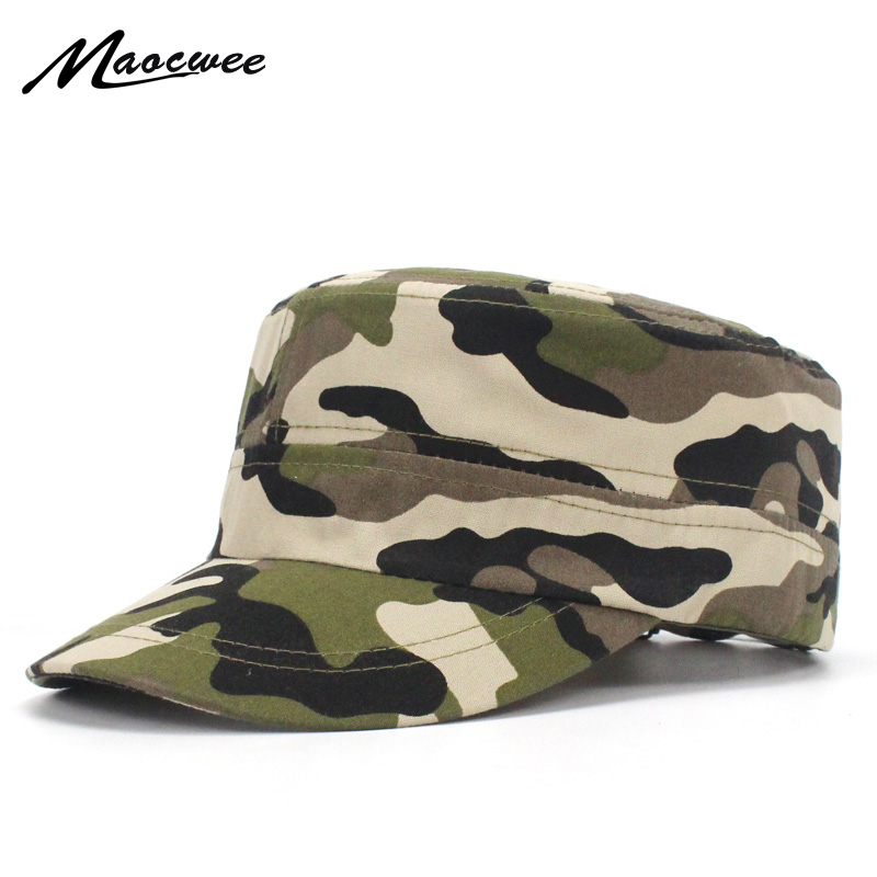 Men Army Military Hats Blank Plain Camo Fitted Unisex Camo Caps Baseball Desert Digital Camouflage Cap Women Soldier Sports Hat