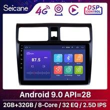 "Seicane CarสเตอริโอGPSนำทางมัลติมีเดียสำหรับ2005 2006 2007 2008 2009 2010 Suzuki Swift 10.1 ""Android 9.0หัวหน่วย"