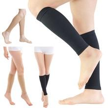 Unisex Compression Leg Sleeve Relieve Varicose Veins Circulation Sport Legwarmer Black Footless Compression Socks For Running