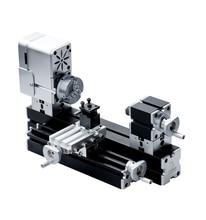 36W Enhanced Miniature Metal Lathe 50mm Center Height Mini DIY Lathe for Processing Aluminum|Wood| Plastic Materials