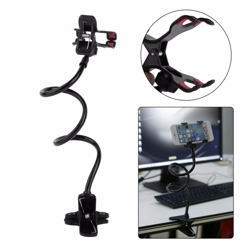 Lazy Shelf Bedside Mobile Phone Holder Clip For Smart Phone Adjustable Stand Holder Bed Table Desk Long Bending Foldable Support