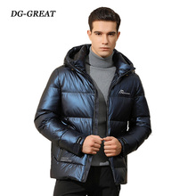 2019 New Winter Down Jacket Men Short Style Thickened Glossy Down Coats Fashion Youth Warm Menswear High Quality Coats Men рубашка burton menswear london burton menswear london bu014emesuw5