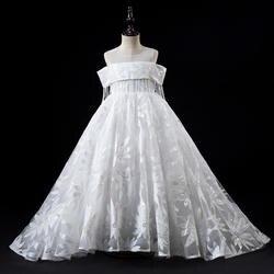 Платья с цветочным узором для девочек на свадьбу; белые длинные платья для причастия для девочек