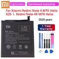 2020 batterie de remplacement d'origine Xiaomi BN41 4100mAh pour Xiaomi Redmi Note 4 MTK Helio X20 Redmi Note 4X MTK Helio X20 Bateria