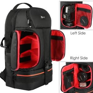 Image 3 - DSLR Waterproof Video Camera Backpack Tripod Case w/ Reflector Stripe fit 15.6in Laptop Bag for Canon Nikon Sony DSLR Photo