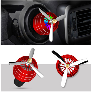 LED Light Car Vent Outlet Alloy Perfume Clip Fresh Air Freshener for BMW F30 F10 E39 E90 E60 X5 E53 F20 Mercedes Benz W204 W205 image
