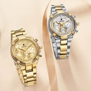 Image 4 - KADEMAN lüks kadın saatler klasik tasarım çelik kayış tarih kuvars bayanlar izle kadın kol saati kız saat Relogio Feminino