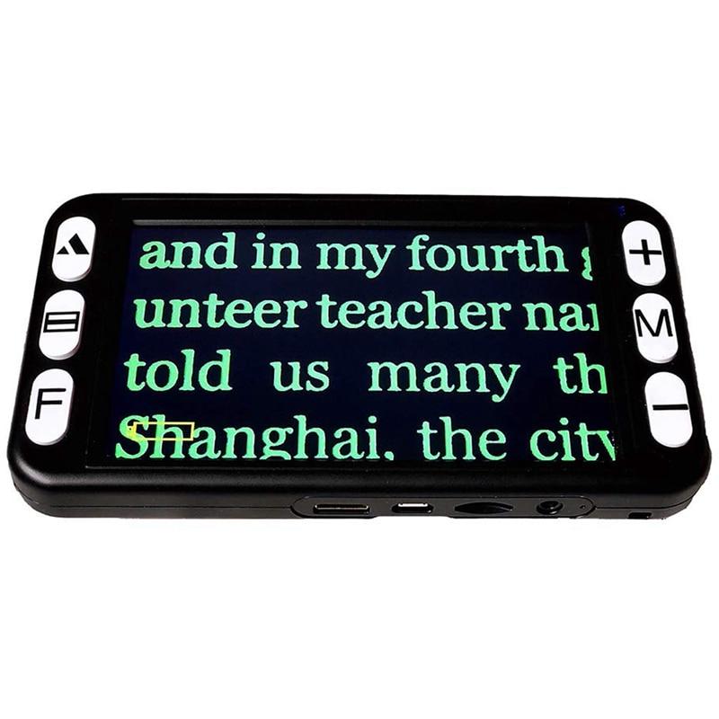 Zoom portátil de digitas 4x 32x do lcd da lupa do vídeo da parte superior 5 Polegada, ajuda eletrônica handheld da leitura para a baixa visão prejudicada, 19 m da cor