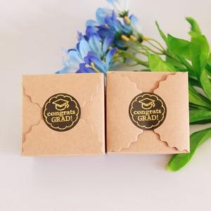 Image 3 - 120pcs EID Mubarak Ramadan Paper Box Stickers DIY Candy Box Sticker Muslim Islam Eid Party Supplies