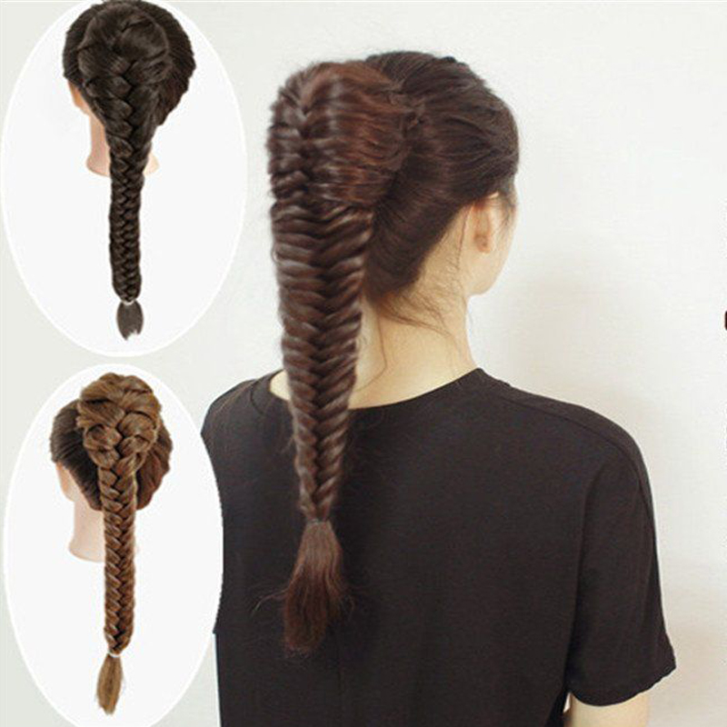 AOOSOO Synthetic hair braided plaited fishtail fishbone Drawstring Ponytail Hairpiece 4 colours available 1pc