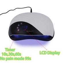Modren1 120W lampe LED pour ongles sèche-ongles pour le séchage UV Gel vernis vernis lampe intégré ventilateur de refroidissement Smart Timing manucure outils