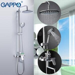 Image 5 - Gappo 浴室のシャワー蛇口セットバスタブ蛇口シャワーミキサータップバスシャワータップ滝シャワーヘッドミキサー torneira