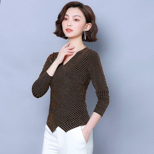 IPencle Hot Autumn New Style Shirt  Large Size Bottoming Shirt Female Long Sleeve