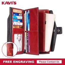 무료 판화 100% 정품 가죽 여성 지갑과 여성 클러치 동전 지갑 Portomonee 전화 가방 카드 홀더 편리한 품질