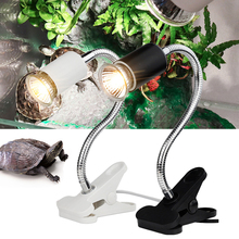 220V UVA + UVB 3.0 Reptile Lamp Set with Clip-on Light Holder Basking Heat light Kit for Turtles Lizard Temperature Control