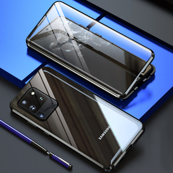 Magnetic Adsorption Glass Case for Samsung S20 Plus S10e S9 S8 Note 10 Pro Note 9 A70 A51 A21S M31 Metal Magnet Protective Cover