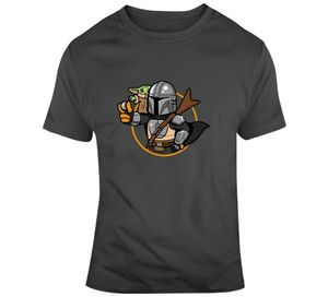 Детская футболка с Йодой манделор Звездные войны Милая футболка для молодежи среднего возраста