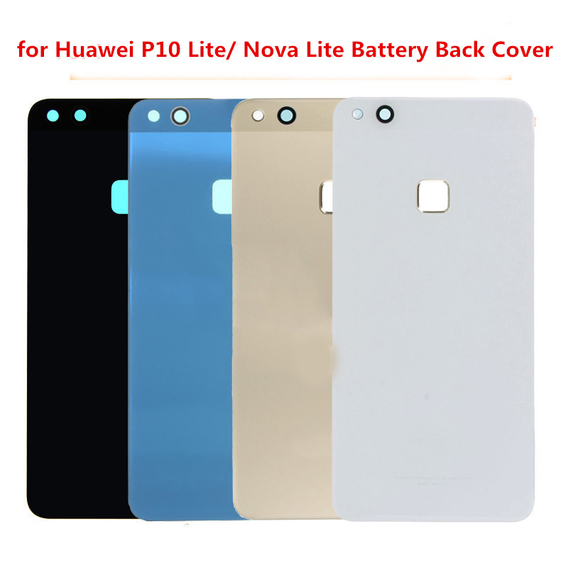 For <font><b>huawei</b></font> P10 Lite/Nova Lite glass Cover Replacement Parts for <font><b>Huawei</b></font> <font><b>p10lite</b></font> Back <font><b>Battery</b></font> Cover Housing with Adhesive Sticker image