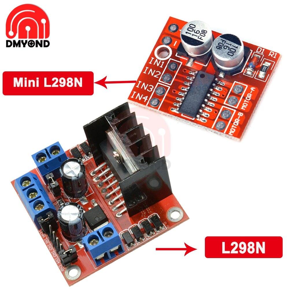 L298 New Dual H Bridge DC Stepper Motor Drive Controller Board Module L298N for Stepper Motor Smart Car Robot Plug-in Capacitor