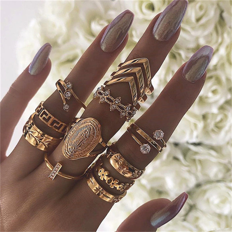 Vintage Ring Bohemian-Ring Wedding-Gift Trend Girl Personality Fashion Women Suitable