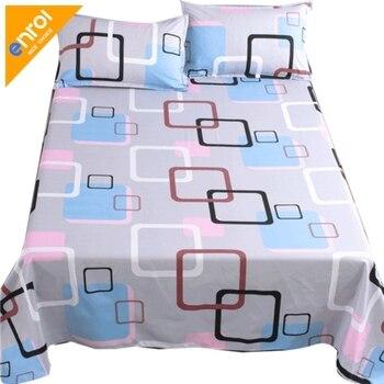 1 Pza de algodón de impresión de tela escocesa cubierta de cama barato de tamaño King individual cama doble cómoda sábana ajustada estilo de dibujos animados