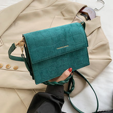 Scrub Leather Crossbody Bags for Women 2020 Winter Branded Shoulder Handbags Women's Designer Trending Cross Body Bags