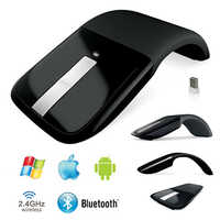 Bluetooth Slim Mouse plegable para Microsoft Surface Arc Touch USB inalámbrico 2,4 Ghz ratón ergonómico ratones Bluetooth 3,0 para el ordenador portátil