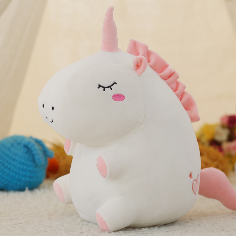 25cm Unicorn Plush Toy Stuffed Plush Animal Baby Doll Toy Soft Unicorn Doll Appease Sleeping Pillow Plush Doll Toy For Children