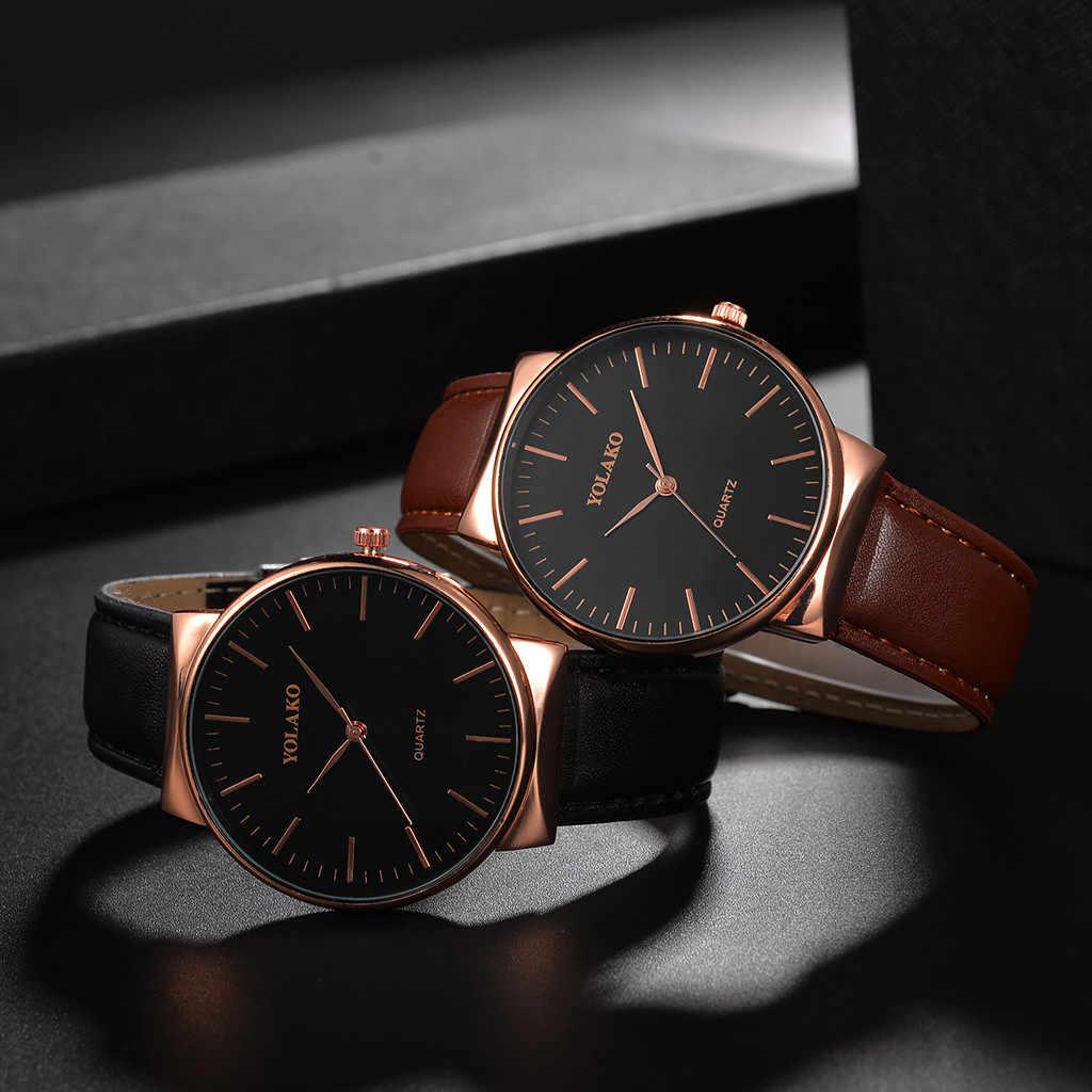 גברים שעון אופנה גברים מקרית של קוורץ רצועת עור Newv רצועת שעון אנלוגי שעון יד זכר של שעון מתנה мужские часы