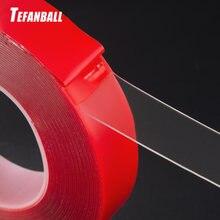 3000 мм красная прозрачная силиконовая Двухсторонняя клейкая