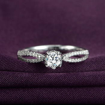 1 Carat 18k Gold And White Gold Diamond Ring Platinum Engagement Ring 2