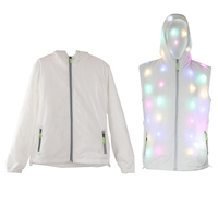 Halloween Colorful LED Luminous Costume Clothes Waterproof Dancing LED Growing Up Lighting Coat Party Luminous Toys
