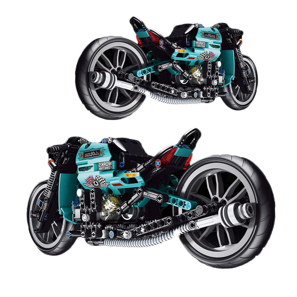 Городской высокотехнологичный мотоцикл, модель автомобиля, мотоцикл, строительные блоки, модель, скоростные гоночные блоки, детская игрушк...