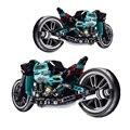 Конструктор городской технический мотоцикл 431 шт., модель мотоцикла, скоростной гоночный конструктор, детская игрушка «сделай сам», рождест...