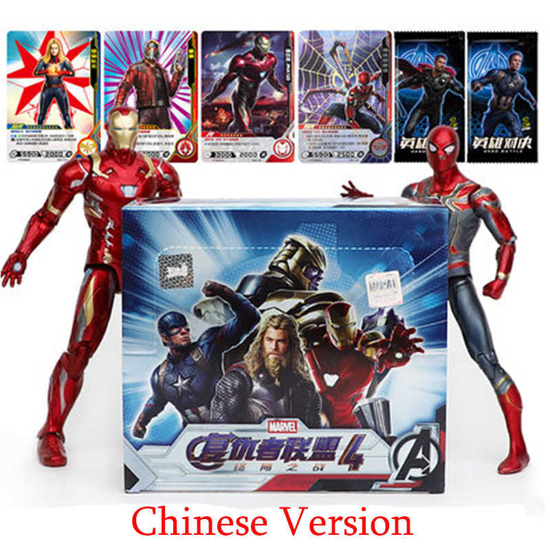180pcs Marvel Avengers Endgame Thanos Spider-man Hulk Iron Man Captain Thor Thor Wolverine Super Heros Card Collection Toys