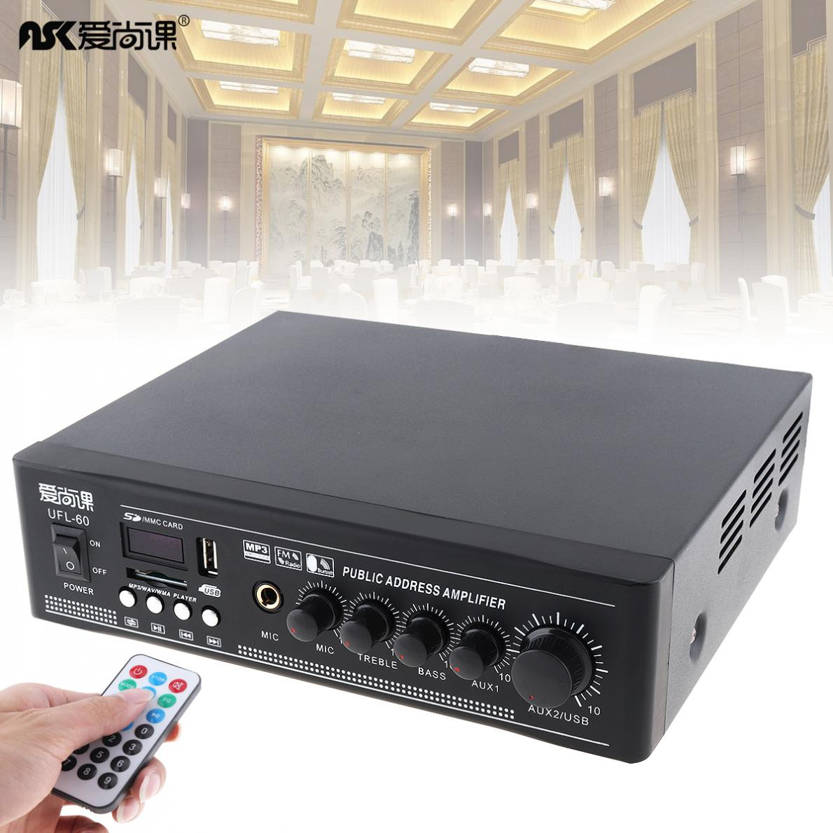 UFL - 60 50w Bluetooth Constant Pressure Amplifier with USB Playback Function for Background Music System(China)